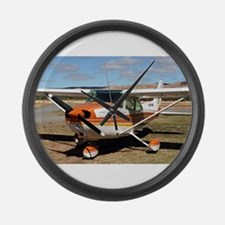 Plane: high wing Large Wall Clock