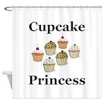 Cupcake Princess Shower Curtain