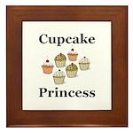 Cupcake Princess Framed Tile