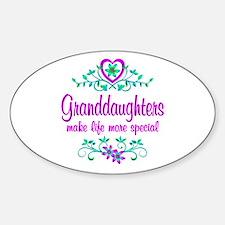 Special Granddaughter Sticker (Oval)