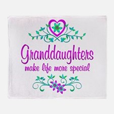 Special Granddaughter Throw Blanket