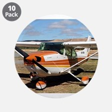 "Plane: high wing 3.5"" Button (10 pack)"