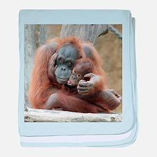 OrangUtan001 baby blanket