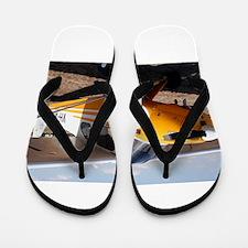 Piper Cub Aircraft (yellow & white) Flip Flops