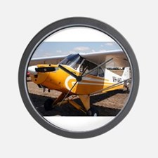 Piper Cub Aircraft (yellow & white) Wall Clock