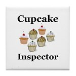 Cupcake Inspector Tile Coaster