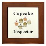 Cupcake Inspector Framed Tile