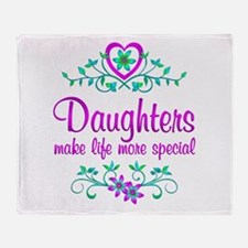 Special Daughter Throw Blanket