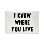 KnowWhereYouLive Rectangle Magnet (10 pack)
