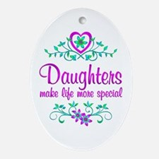 Special Daughter Ornament (Oval)