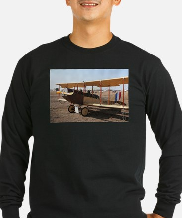 Curtiss Jenny Biplane Aircraft Long Sleeve T-Shirt