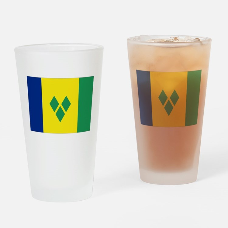 St Vincent & The Grenadines Nal fla Drinking Glass