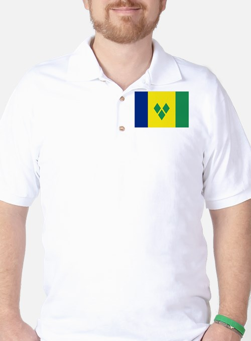 St Vincent & The Grenadines Nal flag T-Shirt