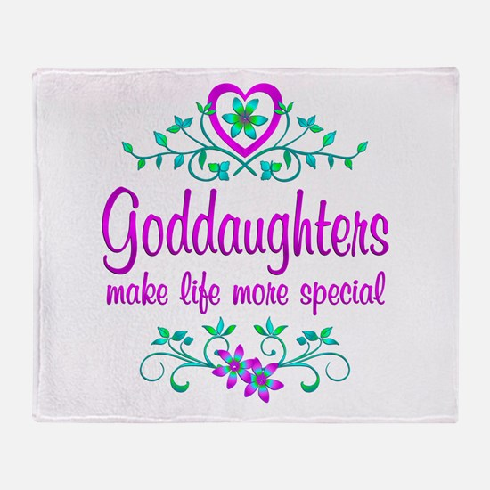 Special Goddaughter Throw Blanket