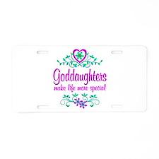 Special Goddaughter Aluminum License Plate