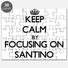 Keep Calm by focusing on on Santino Puzzle