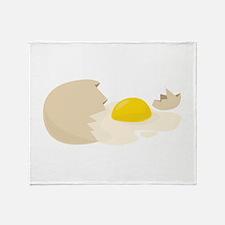 Broken Egg Throw Blanket