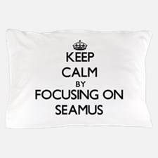 Keep Calm by focusing on on Seamus Pillow Case