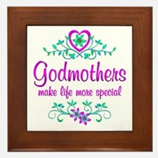 Special Godmother Framed Tile