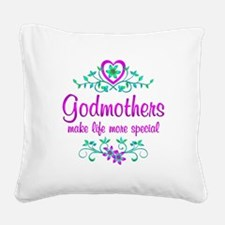 Special Godmother Square Canvas Pillow