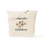 Cupcake Goddess Tote Bag