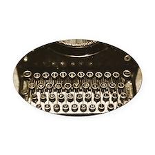 Vintage Typewriter Oval Car Magnet