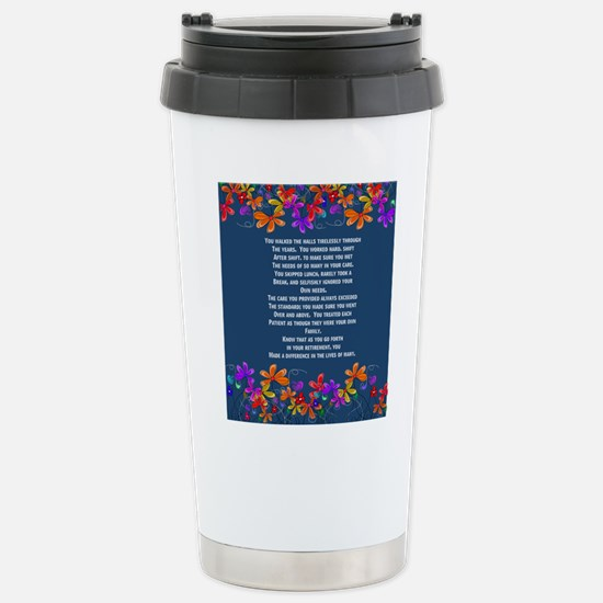 Retired Nurse Stainless Steel Travel Mug