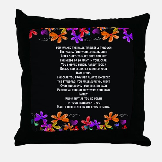 Retired Nurse Throw Pillow