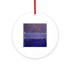 Shades of Purples rothko copy_ Ornament (Round)