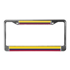 Colombia National Flag License Plate Frame