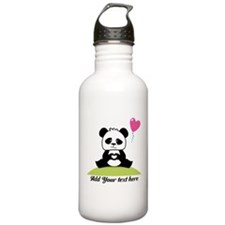 Panda's hands showing Water Bottle