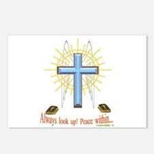Winged Cross Main2.png Postcards (package Of 8)