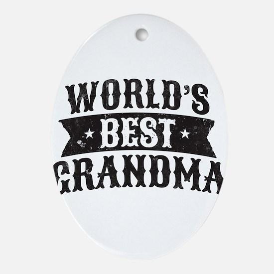 World's Best Grandma Ornament (Oval)