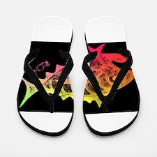 Cool Tuna Logo Black Flip Flops