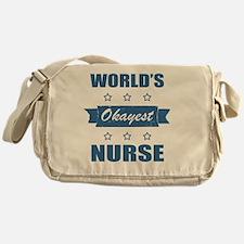 World's Okayest Nurse Messenger Bag