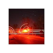 "Flashing Lights Square Sticker 3"" x 3"""