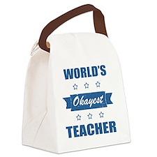 World's Okayest Teacher Canvas Lunch Bag