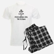 Keep Calm by focusing on on T Pajamas