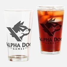 Alpha Dog Games Dark Grey Logo Drinking Glass