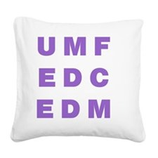 Electronic Dance Music One Square Canvas Pillow