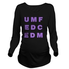 Electronic Dance Mus Long Sleeve Maternity T-Shirt