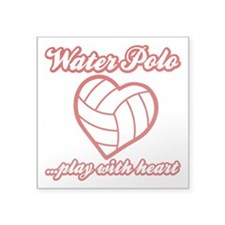 """PLAY w HEART WP Square Sticker 3"""" x 3"""""""