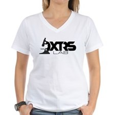 DXTRS LAB Women's V-Neck Logo T-Shirt
