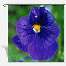 Deep Purple Spring Flower Shower Curtain