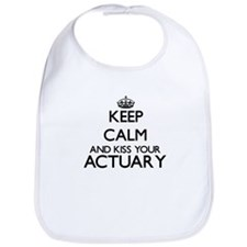 Keep calm and kiss your Actuary Bib