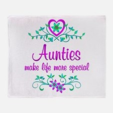 Special Auntie Throw Blanket