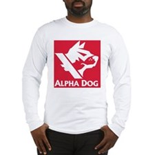 Alpha Dog Games Red Block Logo Long Sleeve T-Shirt