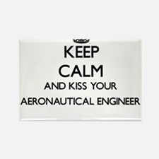 Keep calm and kiss your Aeronautical Engin Magnets
