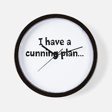 I having a cunning plan... Wall Clock