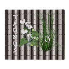 Bamboo and Lily Taurus Throw Blanket